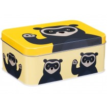 Blafre metal tin spectacled bear YELLOW