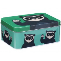 Blafre metal tin spectacled bear GREEN