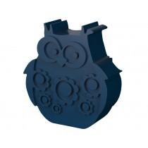 Blafre lunchbox owl dark blue