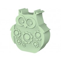 Blafre lunchbox owl light green