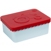 Blafre lunchbox tractor red-light blue small
