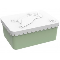Blafre lunchbox puffin white green small
