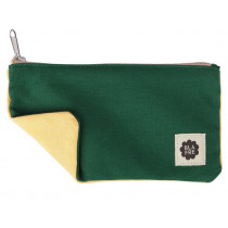 Blafre PENCIL CASE dark green / light yellow