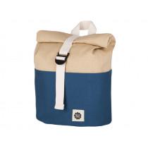 Blafre Backpack ROLLTOP navy blue / beige 1-4 years