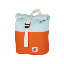 Blafre Backpack ROLLTOP orange / light blue 1-4 years