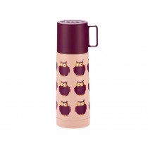 Blafre thermos owls pink