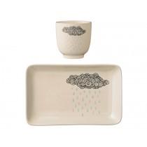 Bloomingville Ceramic Set Cup & Plate Rain Cloud