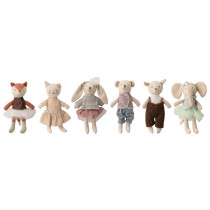 Bloomingville Cuddly Toys Set of 6 ANIMAL FRIENDS
