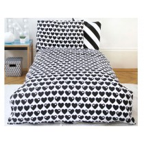 by Graziela reversible bedding hearts black