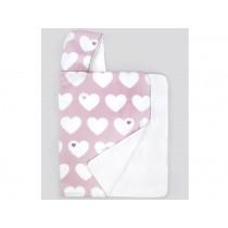 byGraziela hooded towel APPLE PINK