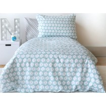 by Graziela lucky clover bedding set blue