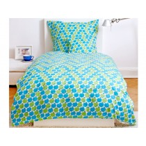 byGraziela apple bedding set blue apples / stripes