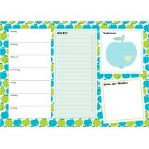 byGraziela weekly planner A4 APPLES GREEN-BLUE