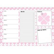 byGraziela weekly planner A4 CLOVER PINK