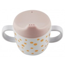 Done by Deer  2-handle Cup Happy Dots gold/powder