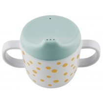 Done by Deer  2-handle Cup Happy Dots gold/blue
