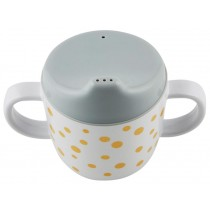 Done by Deer  2-handle Cup Happy Dots gold/grey