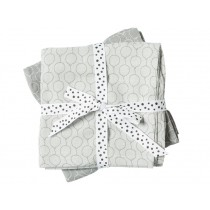 Done by Deer Burp and Swaddle Cloth 2-pack Balloons grey
