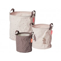 Done by Deer 3-Pack Soft Storage Baskets powder