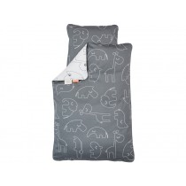 Done by Deer Bedlinen SLEEPY dark grey