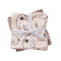 Done by Deer Contour burp and swaddle cloth 2-pack powder