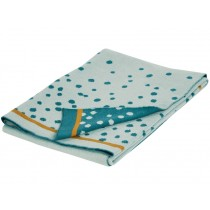 Done by Deer Knitted blanket DOTS blue