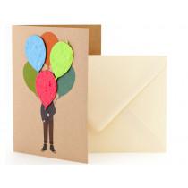 DieStadtgärtner Greeting Card MAN WITH BALLOONS