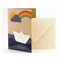 DieStadtgärtner Greeting Card BAPTISM BOAT