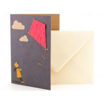 DieStadtgärtner Greeting Card KITE IN THE WIND