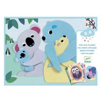 Djeco 3-6 Design CRAFT WITH PAPER Cuddles