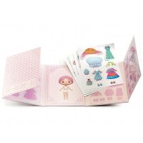 Djeco Tinyly 40 reusable Sticker MISS LILYPINK