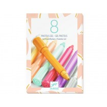Djeco 8 Gel Pastels WARM COLOURS
