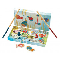 Enchanted fishing game with magnetic rods by Djeco