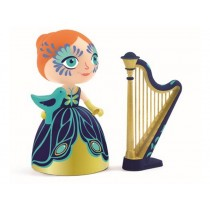Djeco Arty Toys Princess Elisa with harp