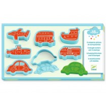 Djeco 3-6: Cutters and Stamps for Modelling Clay VEHICLES