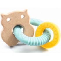 Djeco Baby White Teething Ring BABYBOBI