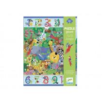 Djeco Floor Puzzle 1 - 10 JUNGLE (54 pieces)