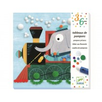 Djeco 3-6 Design Pompom Pictures All aboard