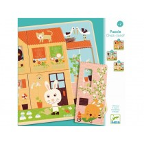 Djeco Wooden Puzzle with 3 Layers RABBIT HOME