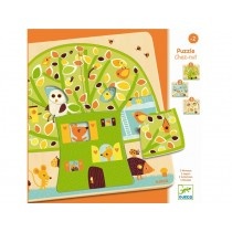 Djeco Wooden Puzzle with 3 Layers TREE HOUSE