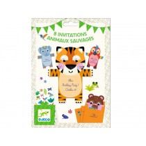 Djeco Invitation Cards WILD ANIMALS