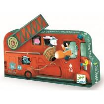 Djeco Silhouette Puzzle: Fire Truck