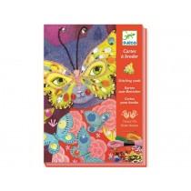 Djeco Handicraft Stitching Cards Elegant Carnival