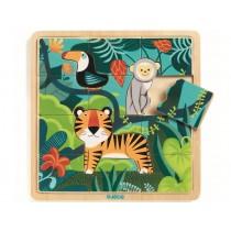 Djeco Wooden Puzzle JUNGLE ANIMALS