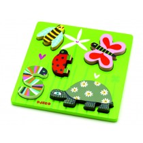 Wooden puzzle Tiny Creatures by Djeco