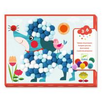 Djeco 3-6 Design Collage Pompoms DOGS