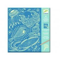 Djeco Scratch Boards SEA ANIMALS
