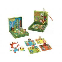 Djeco 4 Educational Games LUDO WOOD