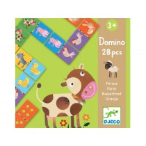 Djeco learning game Domino FARM ANIMALS