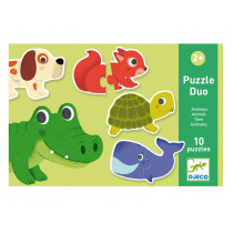 Djeco Educational Games PUZZLE DUO/TRIO ANIMALS